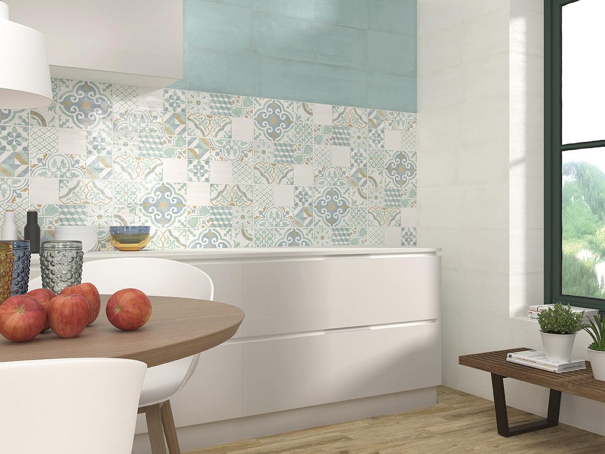 Azulejos hidráulicos azulejos tonos pastel