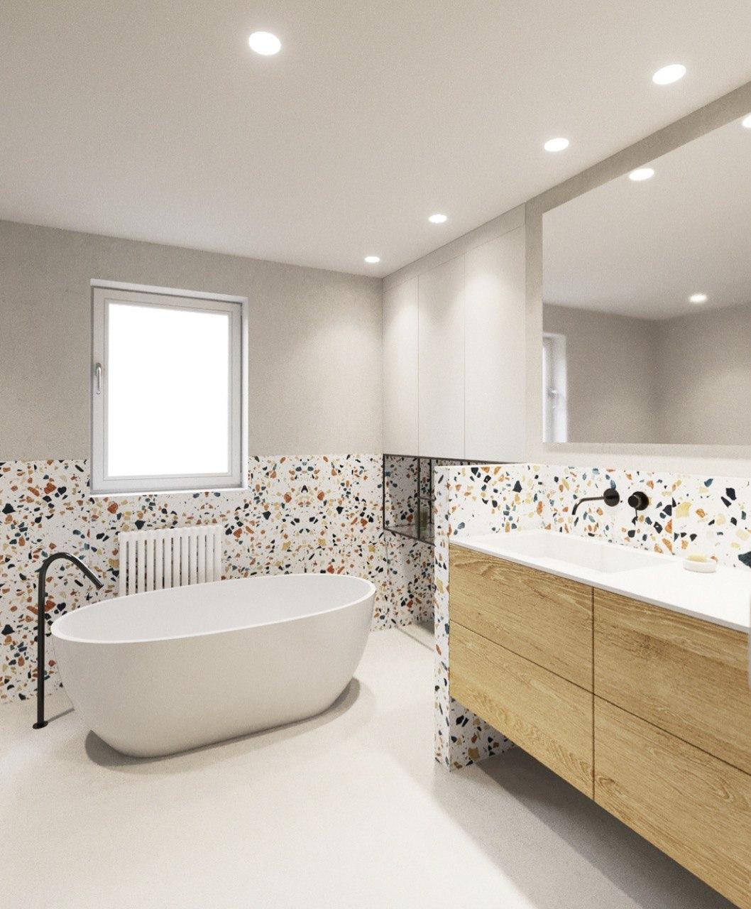 Azulejos de colores baño